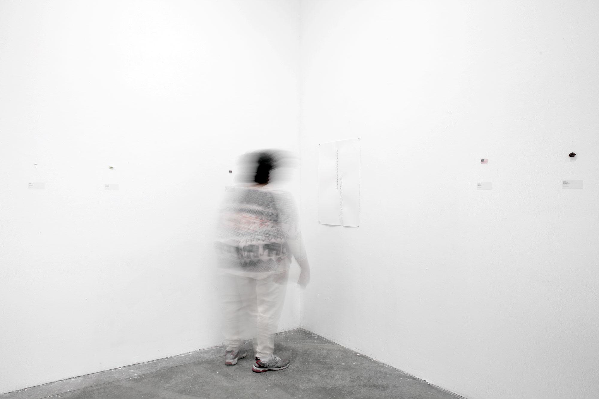 Meshki: Royal Black, Potato Sacks, i.e., Meaningmization, Exhibition Visitor