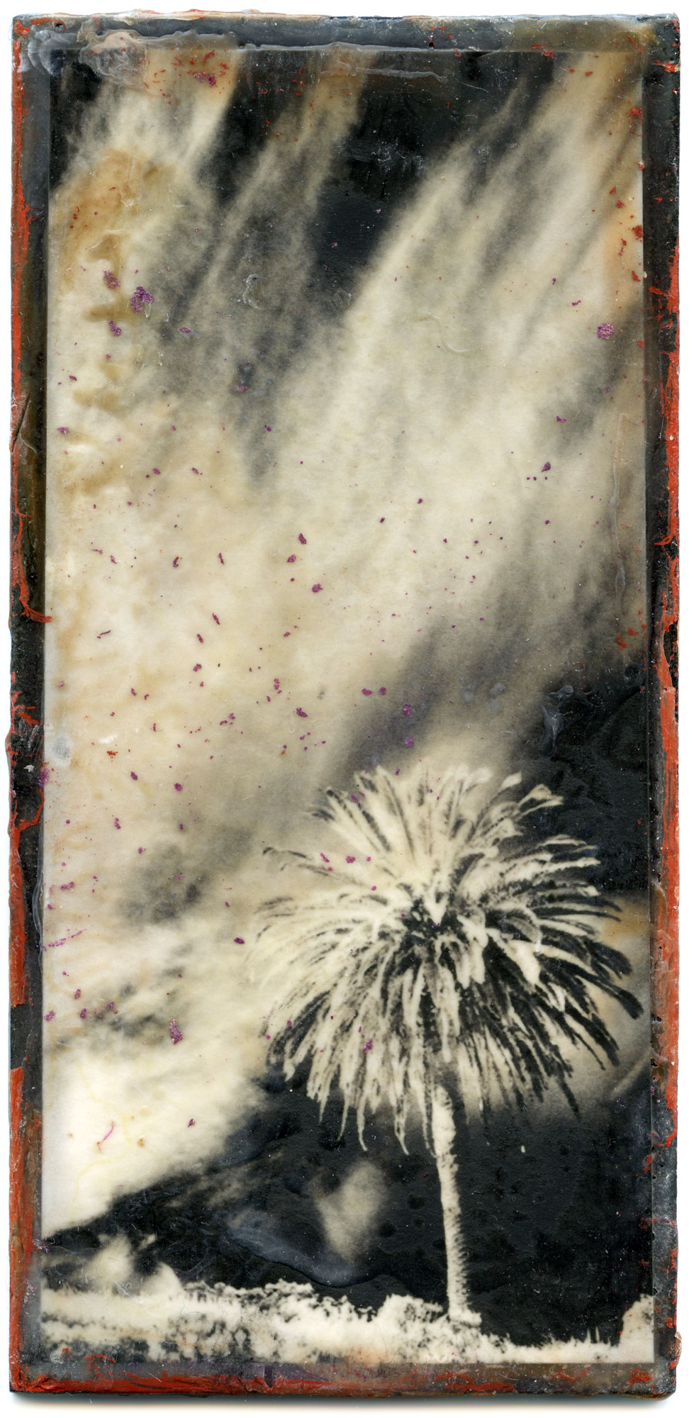 Legacy: Encaustic Waxing On Wooden Plate by Alex Kay